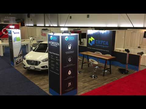 CHFCA Trade Show Booth At Globe Forum 2018 -  Canadian Hydrogen And Fuel Cell Association - htec