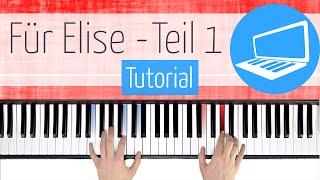Für Elise TUTORIAL (Anfang) TEIL 1 sehr langsam - Klavier spielen lernen | PianoTube