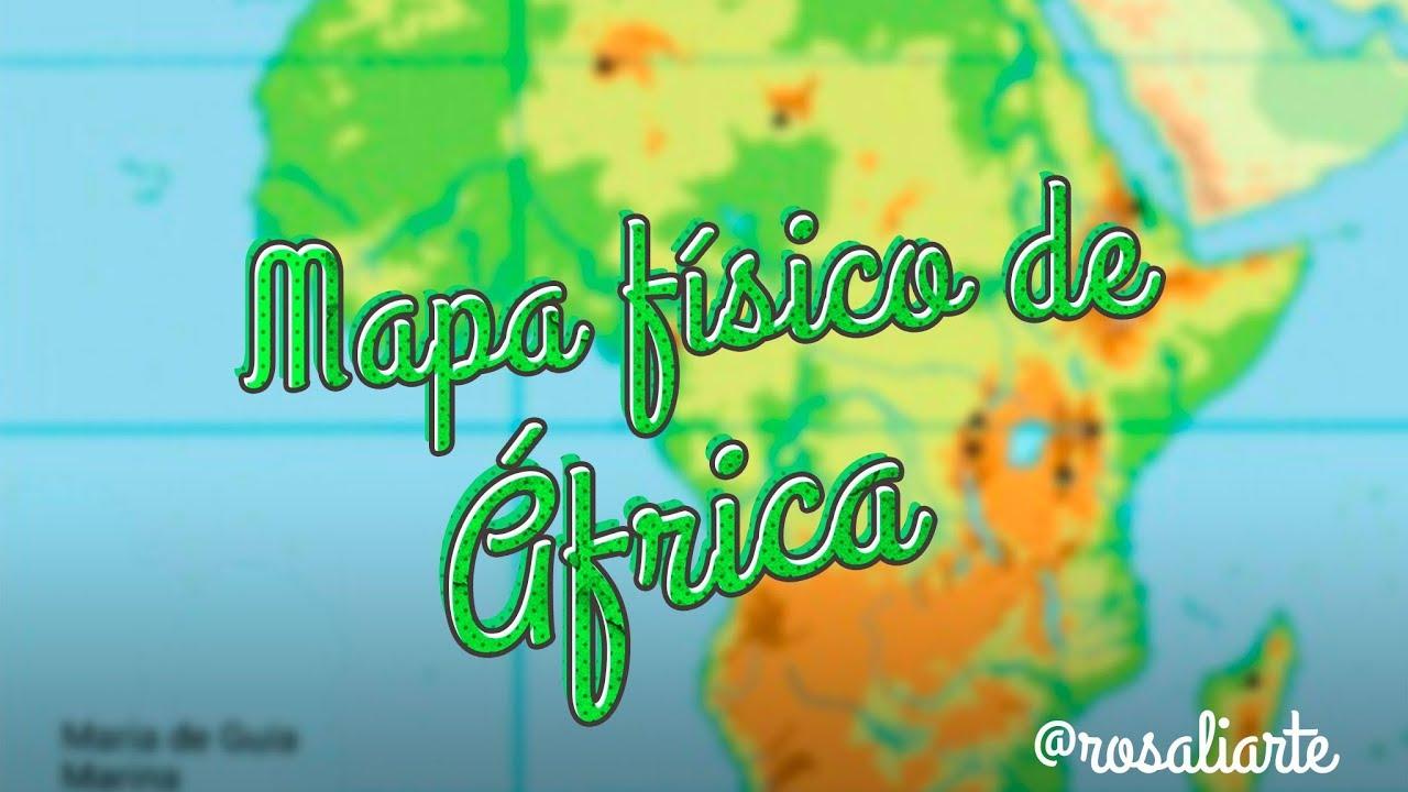 Mapa Físico De áfrica Mudo.Mapa Fisico De Africa 1º Eso