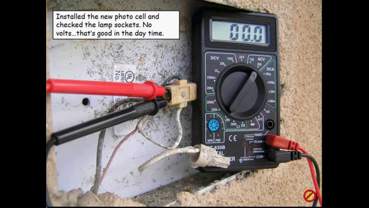 Photocell Installation Wiring Diagram 91 Gmc Tail Lights How To Repair House Address Number Light Youtube