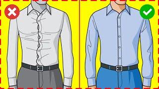 МУЖСКАЯ РУБАШКА. Как выбрать правильно размер рубашки. 6 правил выбора мужской рубашки