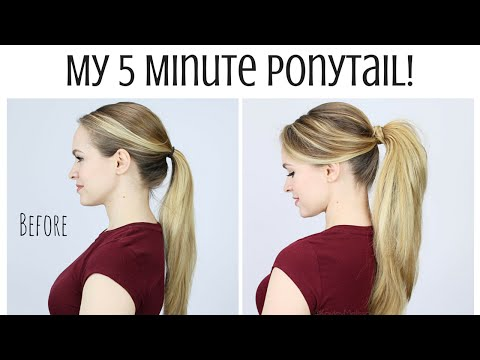 download My 5 Minute Ponytail Routine