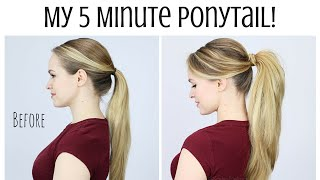 My 5 Minute Ponytail Routine - KayleyMelissa