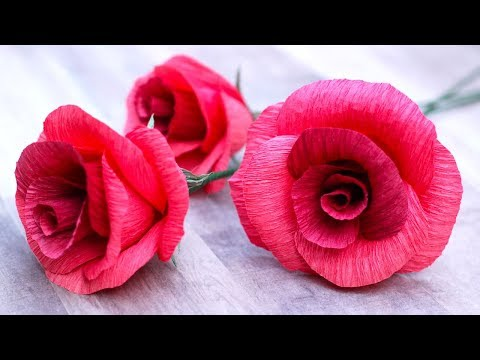 How To Make A Crepe Paper Rose