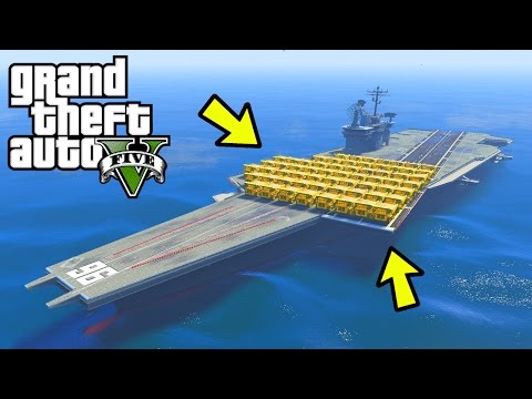 CAN 100+ DUMP TRUCKS SINK THE AIRCRAFT CARRIER IN GTA 5?