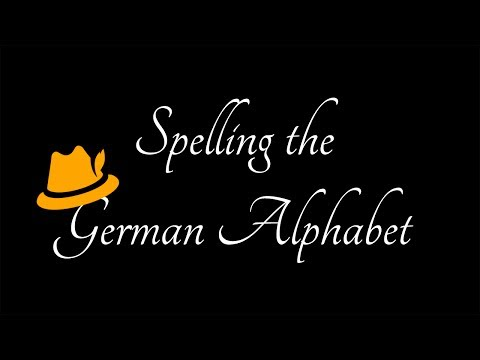 #9 Spelling the German Alphabet - German Learning