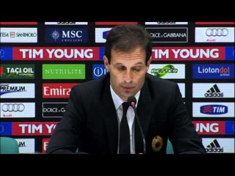 Allegri after Milan-Roma: 'Credit to the players who went for the win'