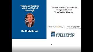 K12 Online Teaching Webinars: Strategies to Teach Writing Skills Online