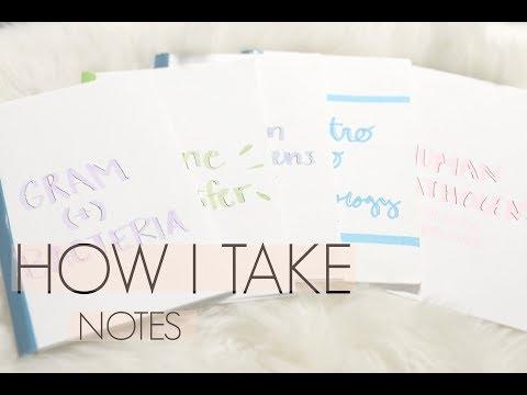 How I Take Notes In Pharmacy School