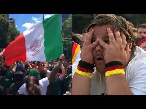 Mexico, Germany fans in contrasting disbelief over Mexico's win