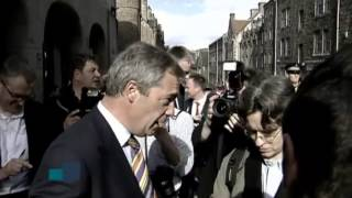 Protesters Barricade UKIP Leader In Pub