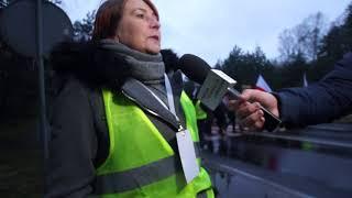 Protest pracowników Elbest - wypowiedź Zofii Kędziak