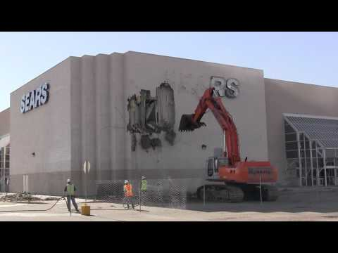 Former Westminster Mall Sears Demolition - Aug. 2, 2012