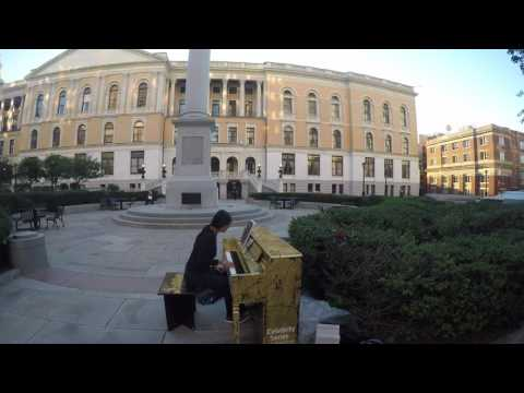 """To Alma Mater @ MA State House, """"Play Me, I'm Yours"""" Boston Street Piano"""