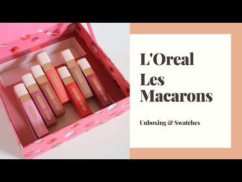 L'Oreal Les Macarons Infallible Liquid Lipstick Unboxing and Swatches! | Maj Valencia thumbnail