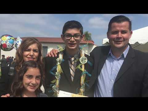 2018 East Whittier Middle School Graduation - Aaron and Adam