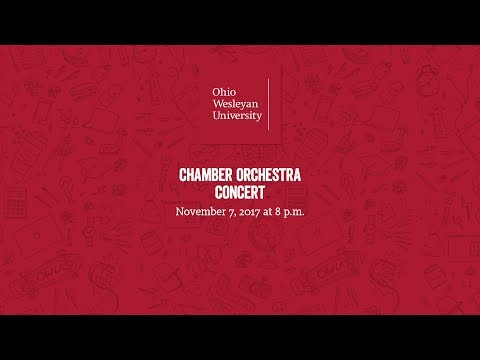 November 7, 2017: Chamber Orchestra Concert