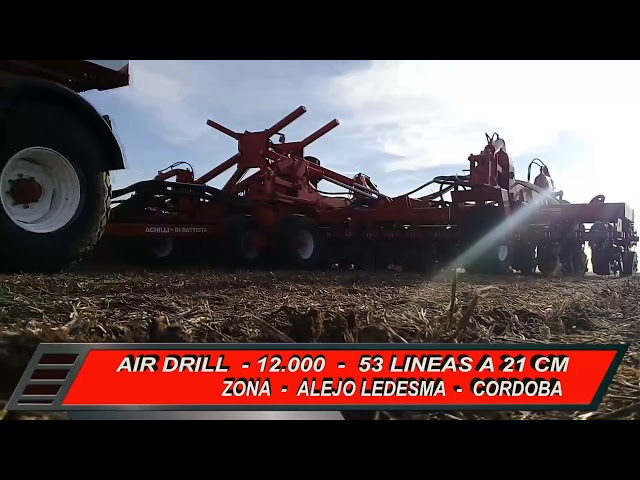 Sembradora Monumental Air Drill modelo 12000, zona Alejo Ledezma ( Cordoba )