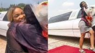 Iyabo Ojo Dancing With Her daughter Inside limousine As She Surprise Her in School