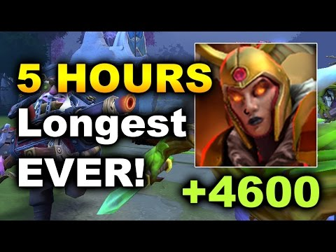 5 HOURS!!! – LONGEST GAME EVER OF DOTA 2 – LC 4500+ Duel DAMAGE!