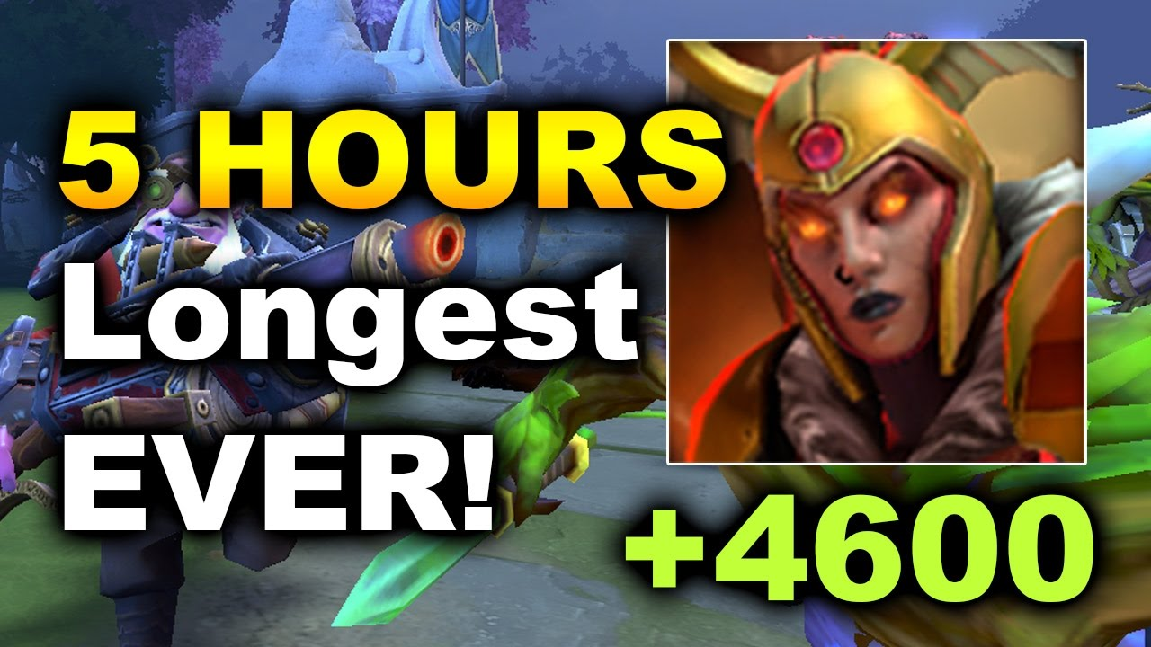 5 hours longest game ever of dota 2 lc 4500 duel damage