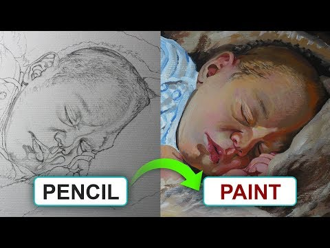 Must Follow Acrylic Painting & Drawing Tips! | Portrait of a cute baby.