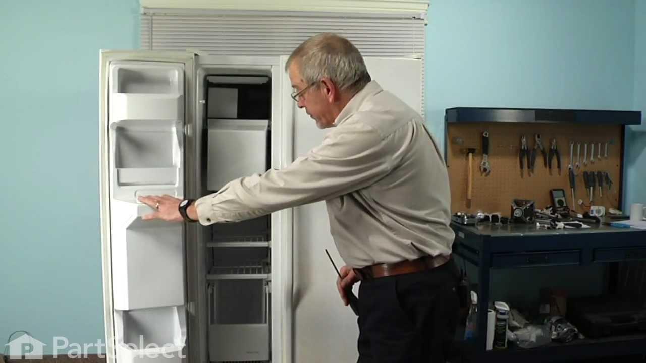 refrigerator repair replacing the evaporator fan motor whirlpool part 4389144 youtube [ 1280 x 720 Pixel ]