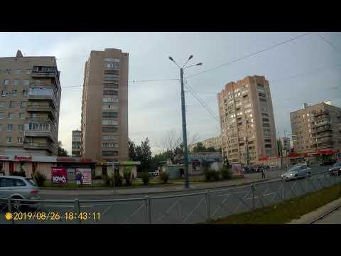 Санкт-Петербург.Поездка на трамвае №43 метро Купчино - ул.Заставская