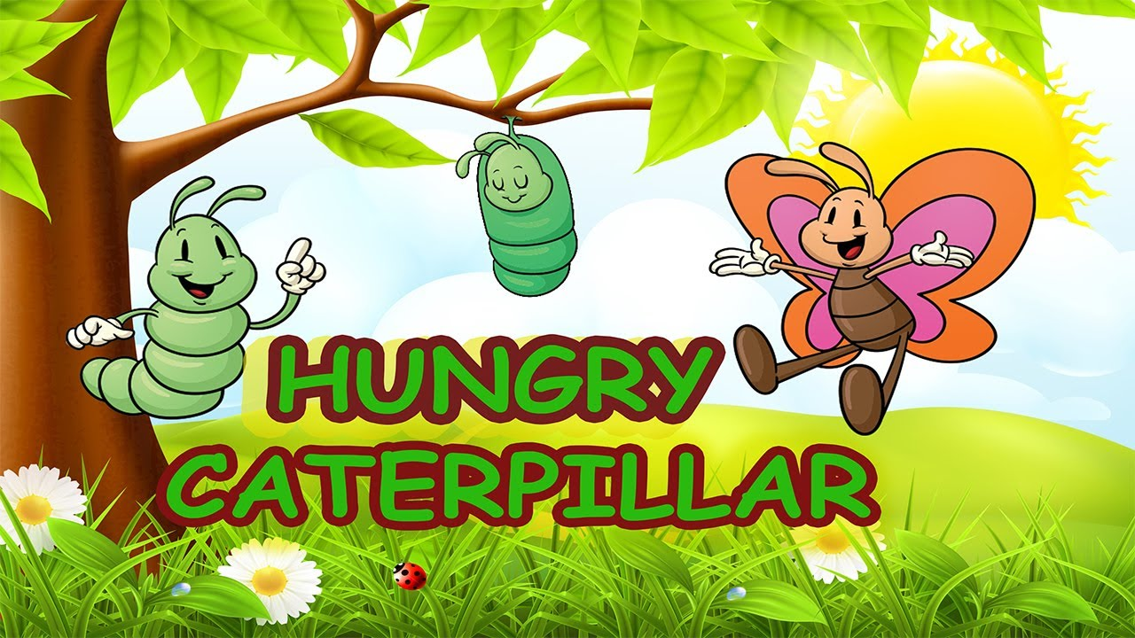 spring songs for children hungry caterpillar with lyrics kids songs by the learning station [ 1280 x 720 Pixel ]