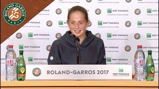 Jelena Ostapenko - Press Conference After Semi-Final 2017   Roland-Garros