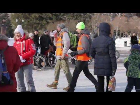 Зимний велопробег // Winter Cycling, Novosibirsk, 2016