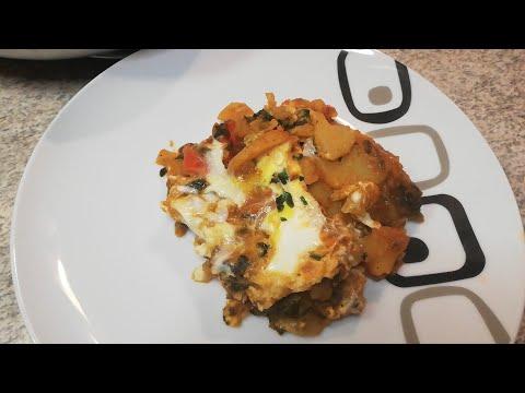 recette-pomme-de-terre-aux-épinards-et-œufs