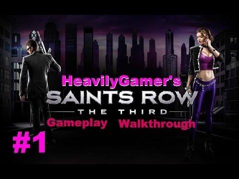 Saints Row The Third Gameplay Walkthrough Part 1:Bank Robbery,I'm Free-Free Falling