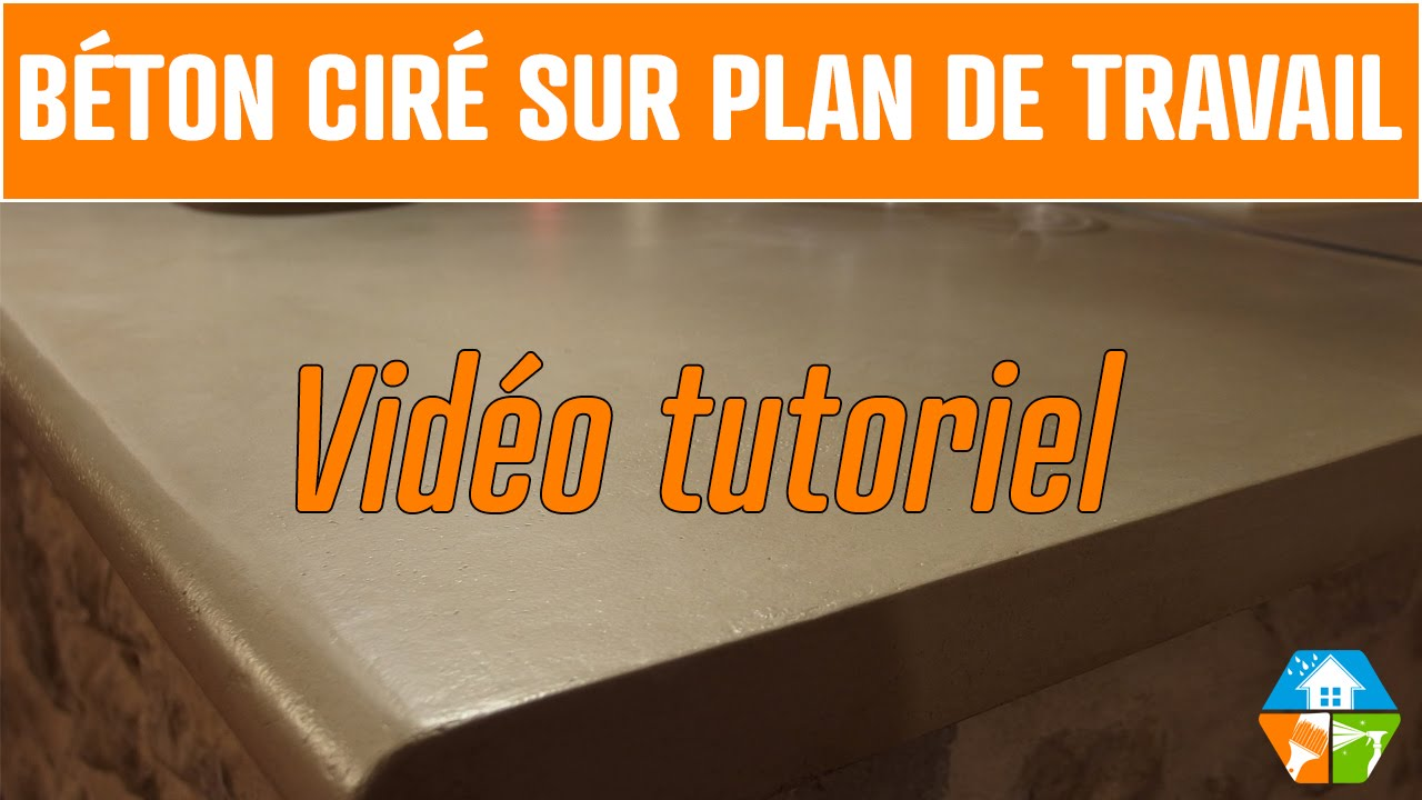 b ton cir plan de travail cuisine salle de bain ext rieur youtube. Black Bedroom Furniture Sets. Home Design Ideas