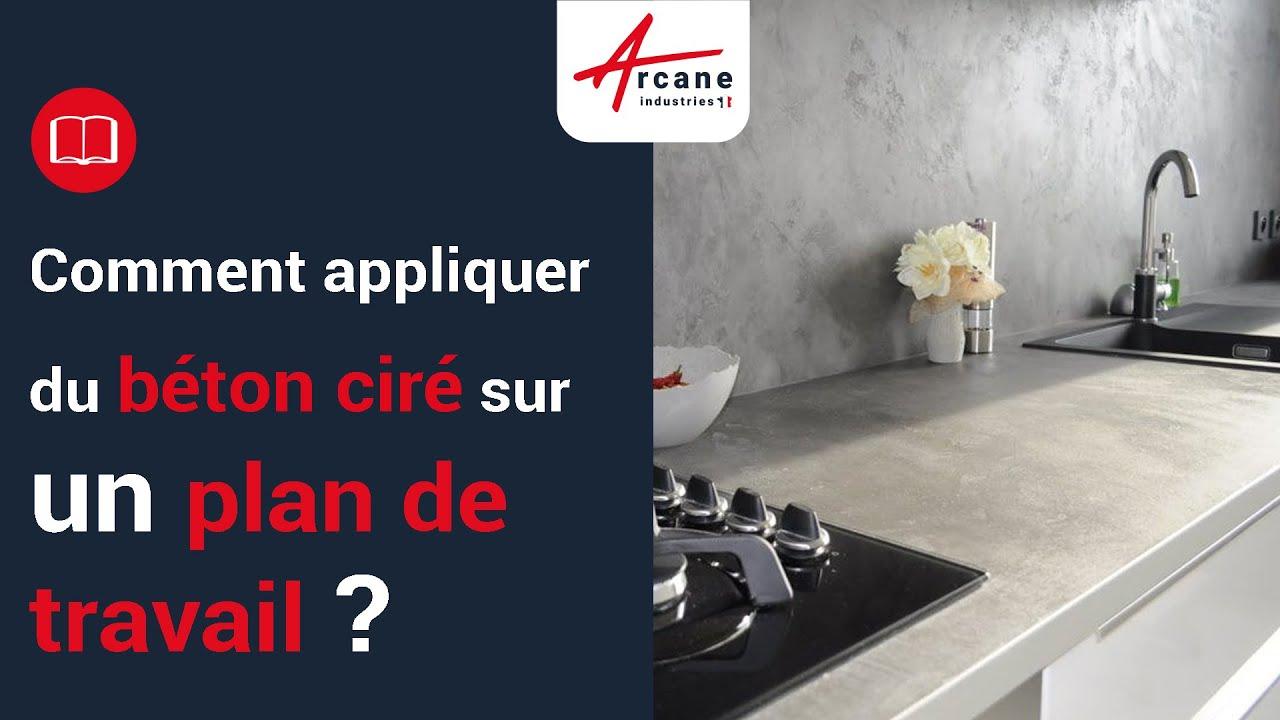 beton cire plan de travail cuisine salle de bain exterieur tuto complet