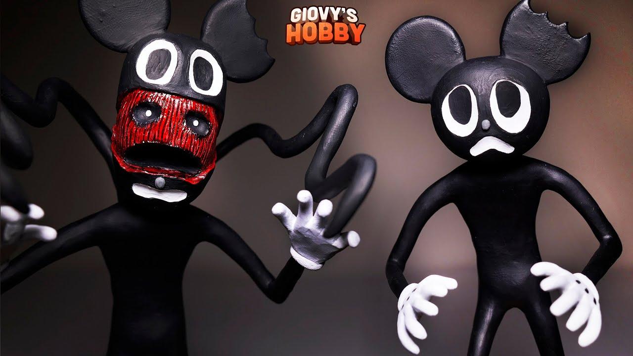 Cartoon Mouse Sculpture ➤ Trevor Henderson Creatures ★ Cosclay Polymer Clay Tutorial