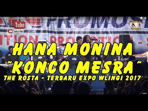 THE ROSTA - HANA MONINA -  KONCO MESRA - TERBARU EXPO WLINGI 2017