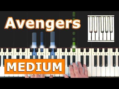 The Avengers Theme - (MEDIUM) Piano Tutorial - Sheet Music thumbnail