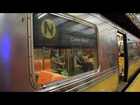 [BMT Broadway Line: Astoria bound N train of R68s at 49th Street
