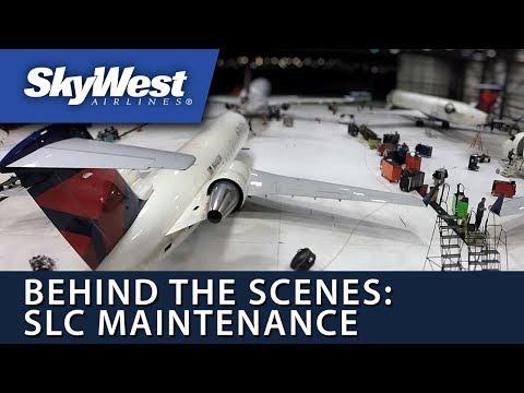 Behind the Scenes of SkyWest's Salt Lake Maintenance Hangar