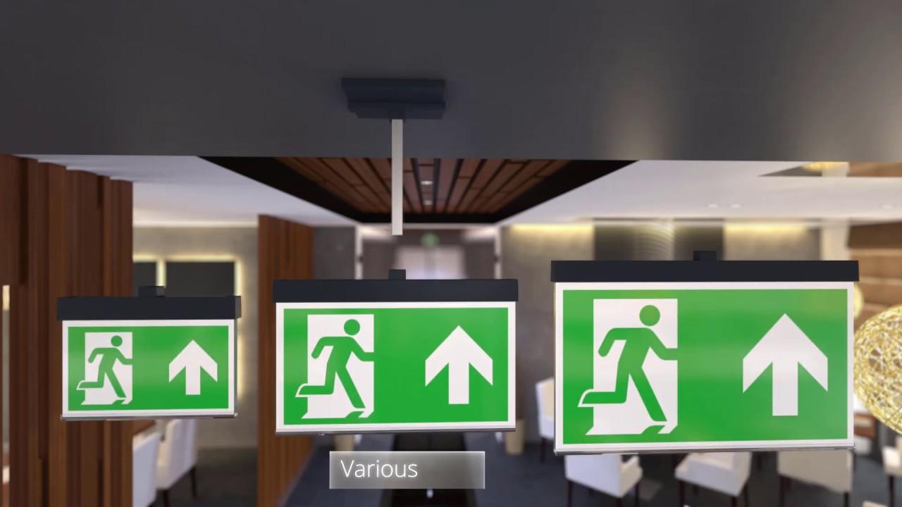 A-SERIA - kierunkowe oprawy ewakuacyjne - wszechstronność instalacji.