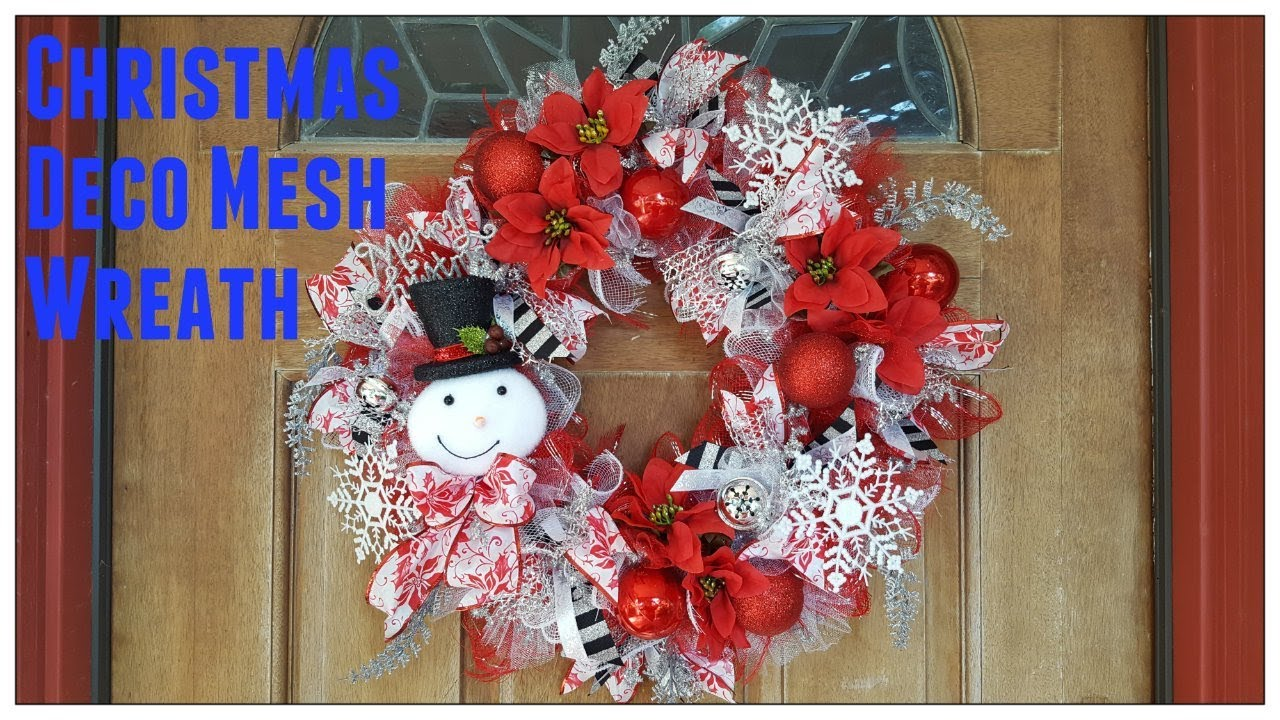 Tricias Creation Christmas Deco Mesh Wreath Dollar Tree Youtube