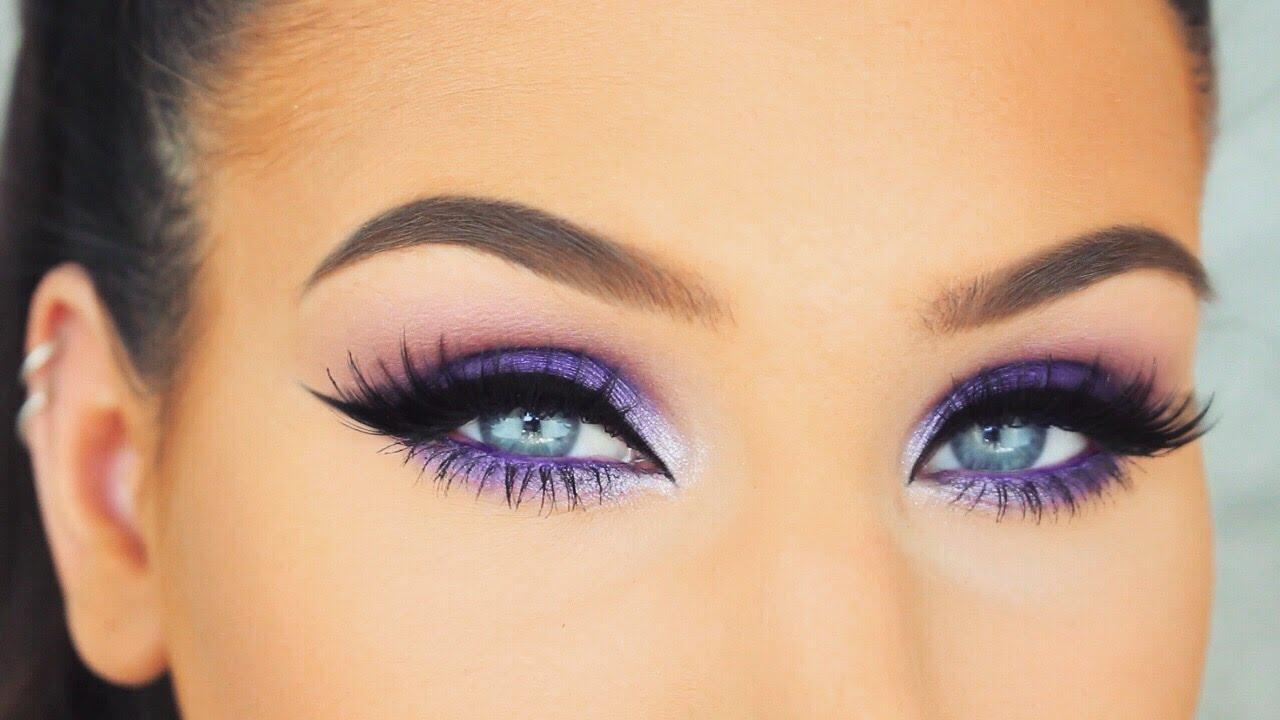 Simple Bright Purple Smokey Eyes Springsummer Makeup Tutorial