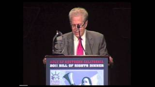 Laurence Tribe Accepts Ramona Ripston Liberty, Justice and Equality Award