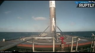 SpaceX launch  Falcon9 successfully lands on drone ship in the Pacific