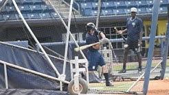 Nick Solak Taking BP at the Richmond County Bank Ballpark