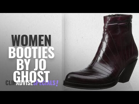Top 10 Jo Ghost Women Booties [2018]: Jo Ghost Women's Jane Bootie, Burgundy, 38 M EU/8 M US