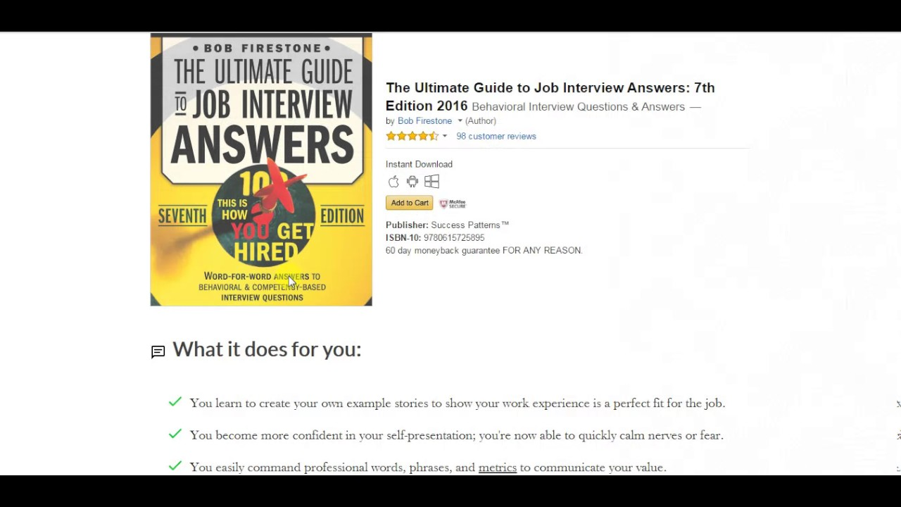 Ultimate Guide To Job Interview Answers Review