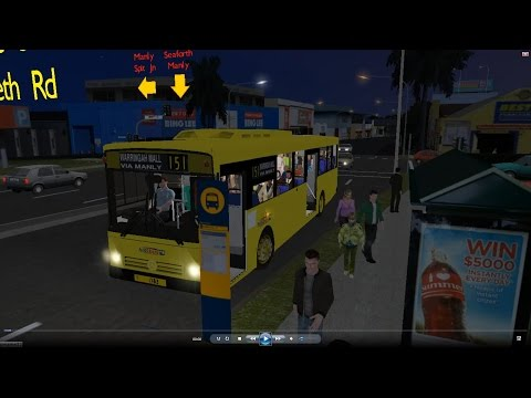 Omsi 2 tour (654) Sydney bus 151 Dee Why - Manly - Spit Junction (05:00 am) @ MB O405 澳洲 悉尼