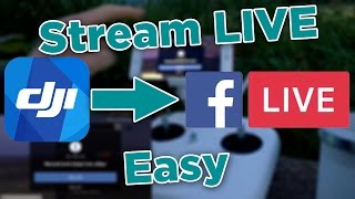 Video How To Stream To Facebook Live From DJI Go - Stream To Facebook Live With The DJI Phantom 3/4 download MP3, 3GP, MP4, WEBM, AVI, FLV November 2017